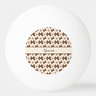 Beautiful Brown Satin  Bows Ping Pong Ball