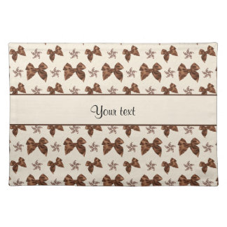 Beautiful Brown Satin  Bows Placemat