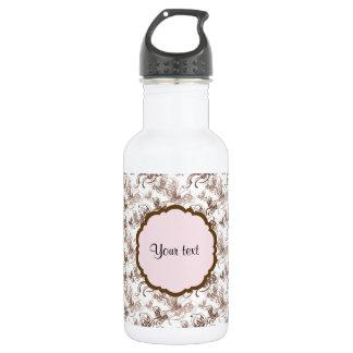Beautiful Brown Swirly Butterflies 532 Ml Water Bottle