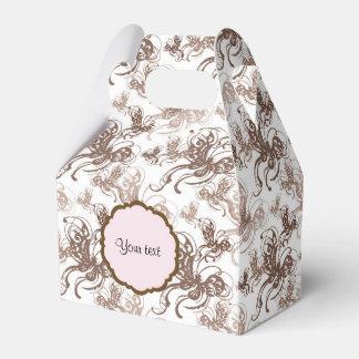 Beautiful Brown Swirly Butterflies Favor Box