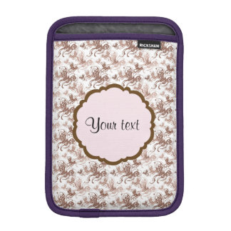 Beautiful Brown Swirly Butterflies iPad Mini Sleeve