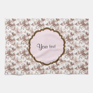 Beautiful Brown Swirly Butterflies Kitchen Towel