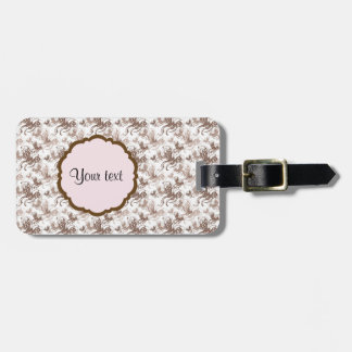 Beautiful Brown Swirly Butterflies Luggage Tag
