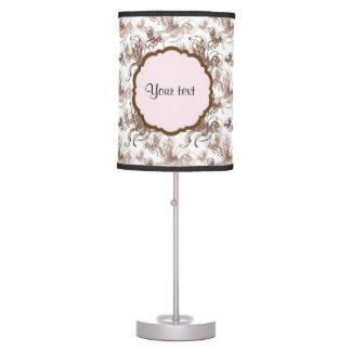 Beautiful Brown Swirly Butterflies Table Lamp
