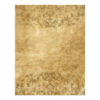 Beautiful Brown Vintage paper parchment and vines Custom Letterhead