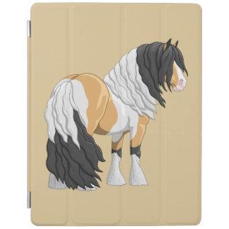 Beautiful Buckskin Pinto Gypsy Vanner Draft Horse iPad Cover
