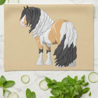 Beautiful Buckskin Pinto Gypsy Vanner Draft Horse Kitchen Towel