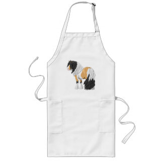 Beautiful Buckskin Pinto Gypsy Vanner Draft Horse Long Apron