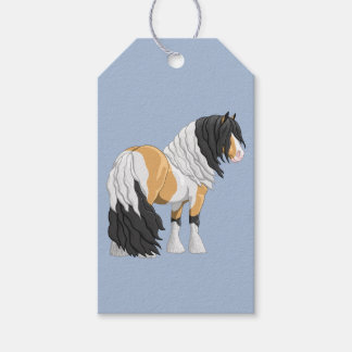 Beautiful Buckskin Pinto Gypsy Vanner Draught   Pack Of Gift Tags