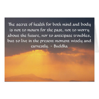Beautiful Buddhist Quote with inspirational photo Card