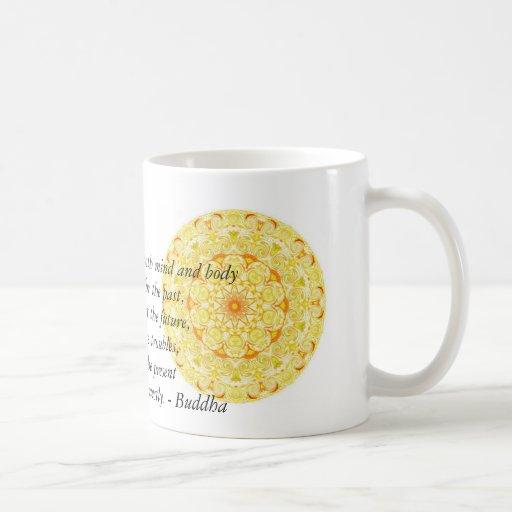 Beautiful Buddhist Quote with Vibrant Mandela Coffee Mug
