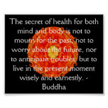 Beautiful Buddhist Quote with Vibrant Mandela Poster