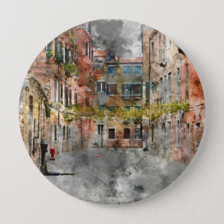 Beautiful Buildings in Venice Italy 4 Inch Round Button