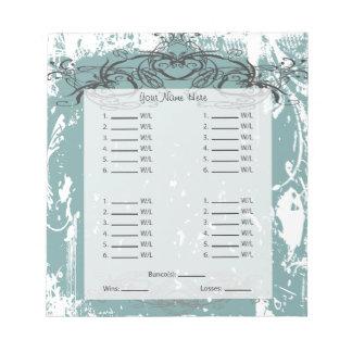 Beautiful Bunco Card/Sheet Notepad