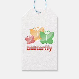 Beautiful butterfies gift tags