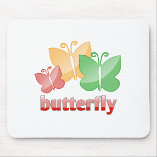 Beautiful butterfies mouse pad