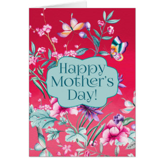 Beautiful Butterflies and Flowers   Mother's Day Card