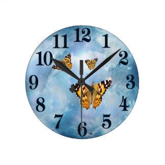 Beautiful Butterflies fantasy Round Clock
