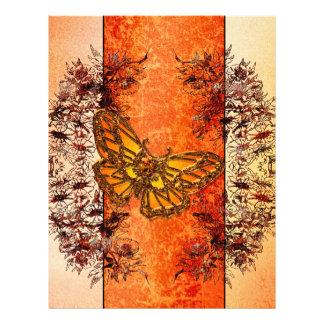 Beautiful butterflies letterhead template