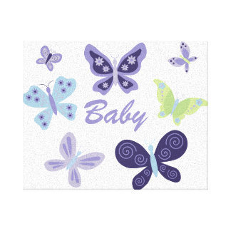 "Beautiful Butterflies Nursery (10""x8"") Canvas Print"