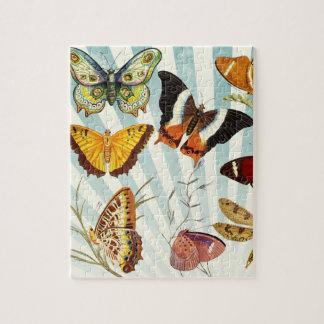 Beautiful Butterflies Pattern Nature Jigsaw Puzzle