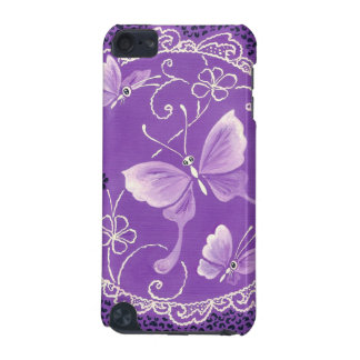 Beautiful Butterflies with Lace in Purple iPod Touch (5th Generation) Case