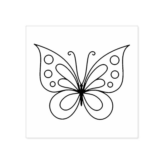 Beautiful Butterfly - Colour Me Rubber Stamp