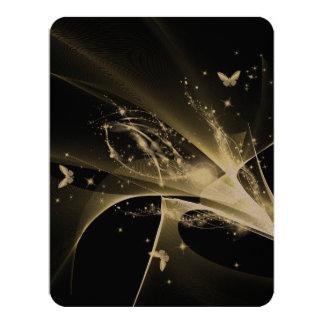 "Beautiful butterfly 4.25"" x 5.5"" invitation card"