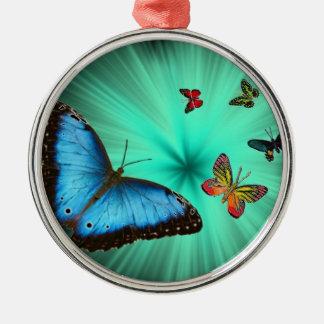 Beautiful Butterfly Journey Metal Ornament