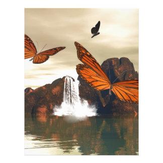 Beautiful butterfly letterhead
