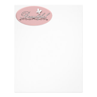 Beautiful Butterfly Letterhead