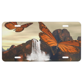 Beautiful butterfly license plate