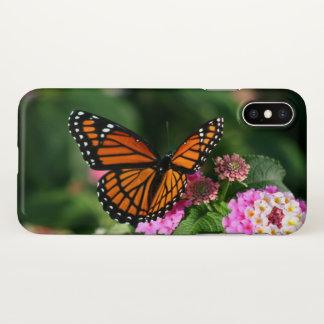 Beautiful Butterfly on Lantana Flower iPhone X Case