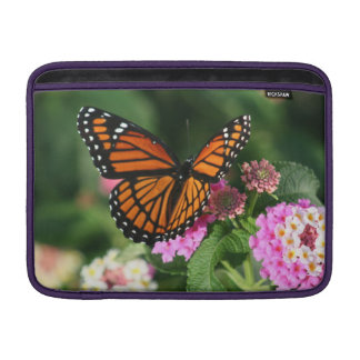 Beautiful Butterfly on Lantana Flower MacBook Sleeve