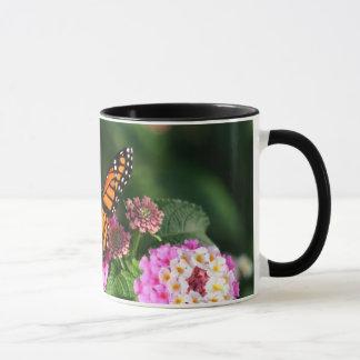 Beautiful Butterfly on Lantana Flower Mug