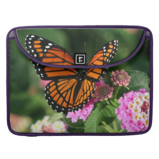 Beautiful Butterfly on Lantana Flower Sleeve For MacBook Pro