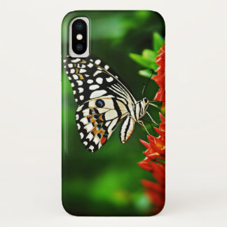 Beautiful Butterfly on Red Flowers Case-Mate iPhone Case