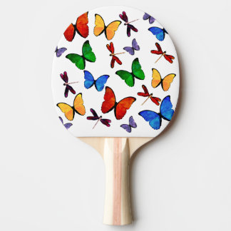 Beautiful Butterfly Pattern Ping Pong Paddle