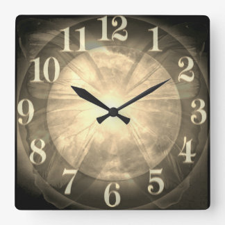 Beautiful Butterfly Planet Earth Glow Square Wall Clock