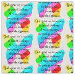 BEAUTIFUL BUTTERFLY SERENITY PRAYER DESIGN FABRIC
