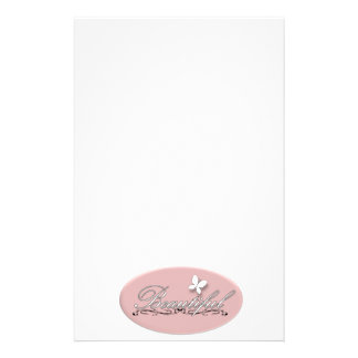 Beautiful Butterfly Stationery Paper