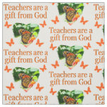 BEAUTIFUL BUTTERFLY TEACHERS PRAYER DESIGN FABRIC
