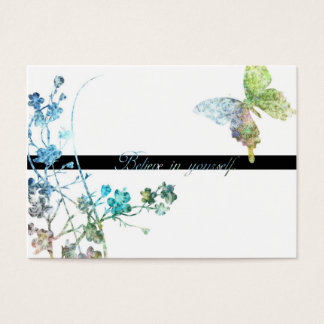 Beautiful Butterfly with Enouraging Message Business Card