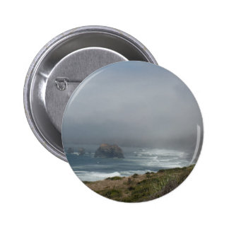 Beautiful California Coast Scenery by the Ocean 2 Inch Round Button