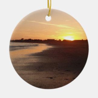 Beautiful California Sunset Beach Ornament