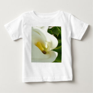 Beautiful Calla Flower On Green Natural Background Baby T-Shirt