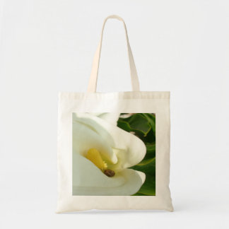Beautiful Calla Flower On Green Natural Background Tote Bag