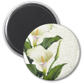 Beautiful Calla Lilies 2 Inch Round Magnet
