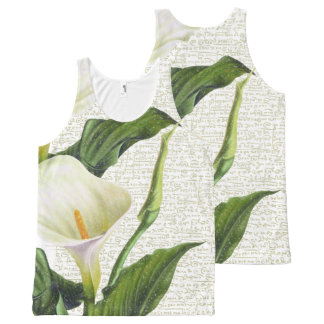Beautiful Calla Lilies All-Over-Print Tank Top