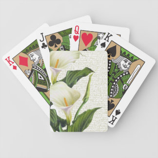 Beautiful Calla Lilies Bicycle Playing Cards